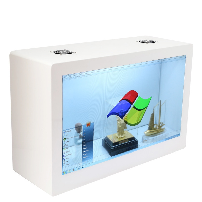 Transparent display case