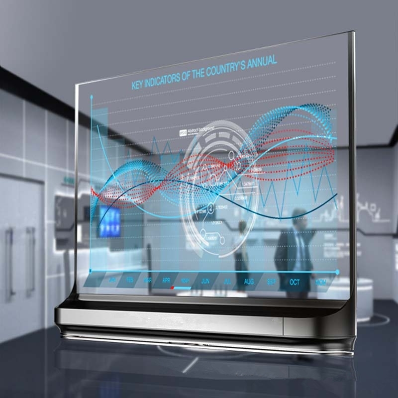 55-inch OLED transparent screen